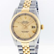 Rolex Mens 14KT Two-Tone Gold Datejust Wristwatch