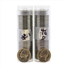Lot of (2) 1946-D Brilliant Uncirculated Jefferson Nickel Rolls