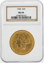 1904 $20 Liberty Head Double Eagle Gold Coin NGC MS64
