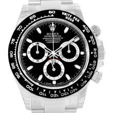 Rolex Cosmograph Daytona Black Dial Chronograph Mens Watch