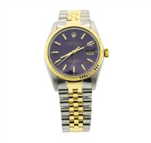 Mens Rolex Two Tone Stainless Steel and 18K Yellow Gold Datejust Watch