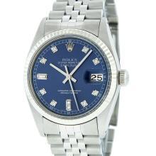 Rolex Stainless Steel Datejust Mens Wristwatch