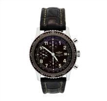 Rare Mens Breitling Havana Brown Navitimer Aviastar Watch A13024