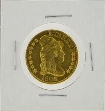 1803/2 $5 Heraldic Eagle Gold Coin AU Details Cleaned