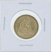 1853 Seated Liberty Silver Quarter Coin