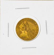 1912-S $5 Indian Head Half Eagle Gold Coin