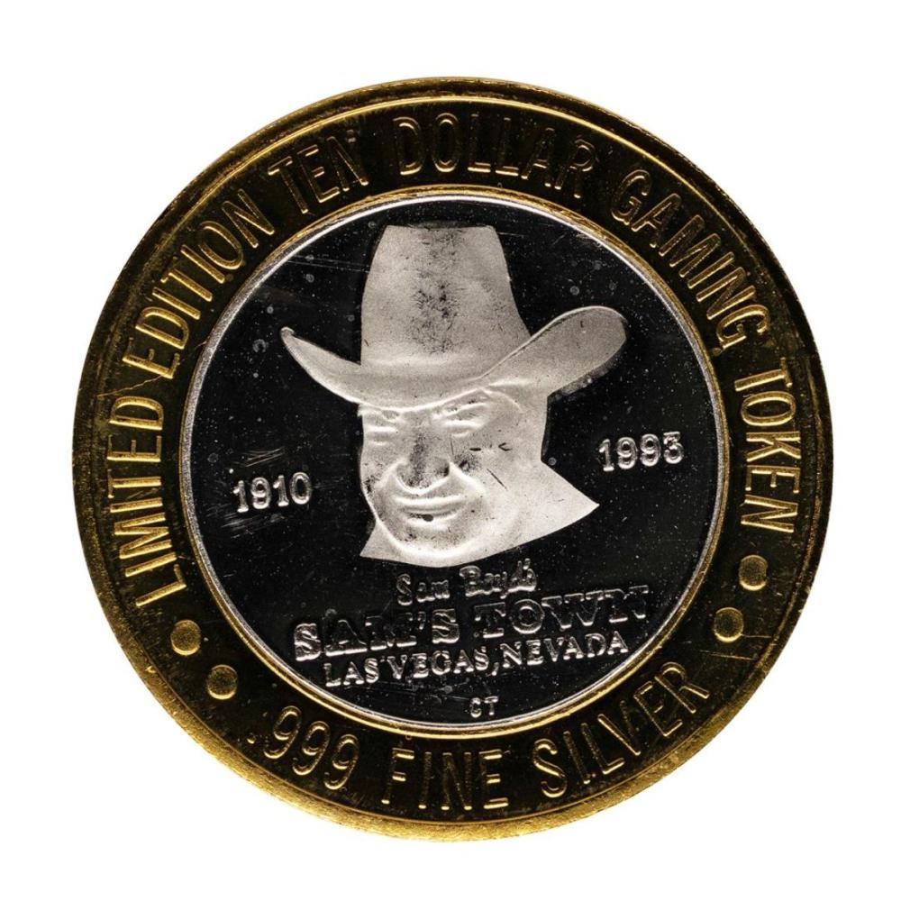.999 Fine Silver Sam's Town Casino Las Vegas $10 Limited Edition Gaming Token