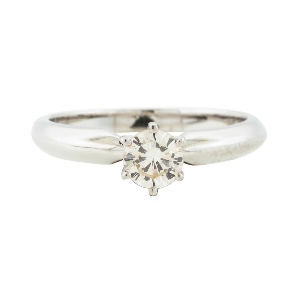 14KT White Gold 0.42 ctw Diamond Ring