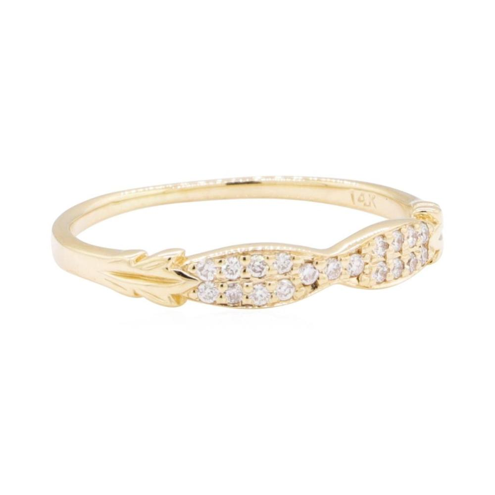 14KT Yellow Gold 0.15 ctw Diamond Band