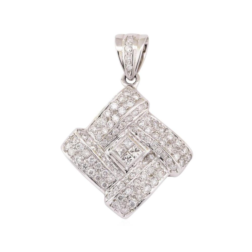 14KT White Gold 2.01 ctw Diamond Pendant