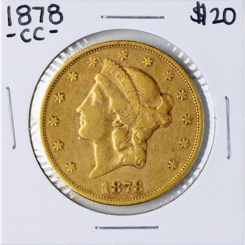 1878-CC $20 Liberty Head Double Eagle Gold Coin