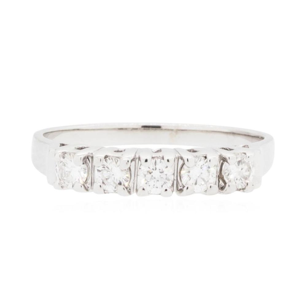 14KT White Gold 0.35 ctw Diamond Ring