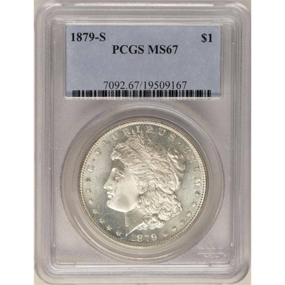 1879-S $1 Morgan Silver Dollar Coin PCGS MS67