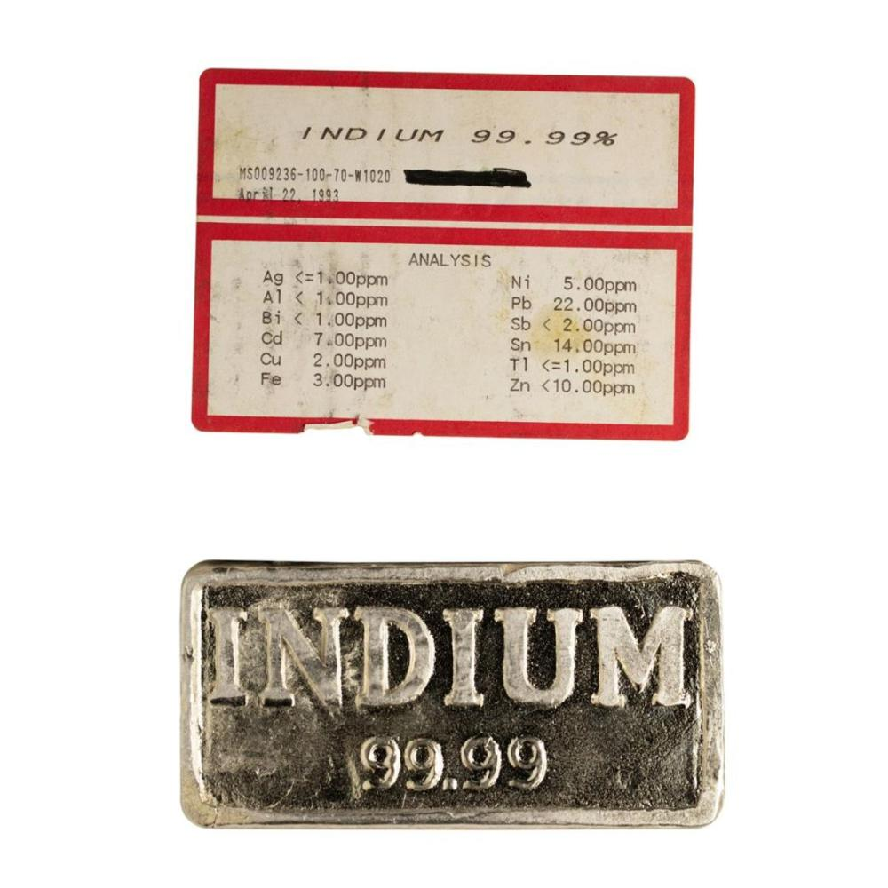 1.034 Kilogram 99.99% Indium Metal Bar