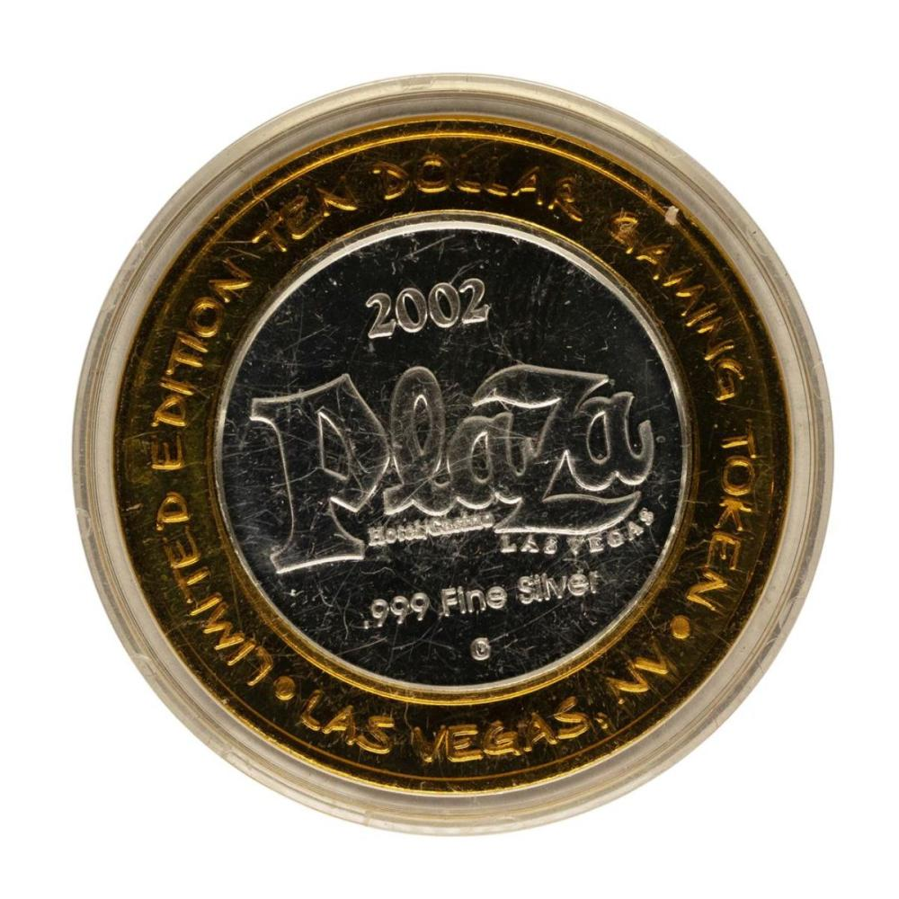 .999 Fine Silver Plaza Casino Las Vegas, NV $10 Limited Edition Gaming Token