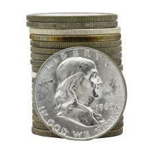 Roll of (20) 1960-D Brilliant Uncirculated Franklin Half Dollar Coins