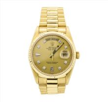 Rolex President 18KT Yellow Gold DayDate Mens Wristwatch