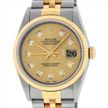 Rolex 18KT Two Tone Datejust Mens Wristwatch