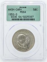 1952-S Washington-Carver Commemorative Half Dollar Coin PCGS Graded MS64