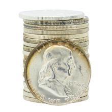 Roll of (20) 1956 Brilliant Uncirculated Franklin Half Dollar Coins