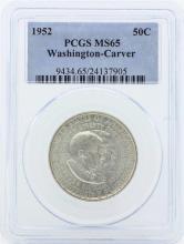 1952 Washington-Carver Commemorative Half Dollar Coin PCGS Graded MS65