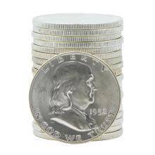 Roll of (20) 1952-D Brilliant Uncirculated Franklin Half Dollar Coins