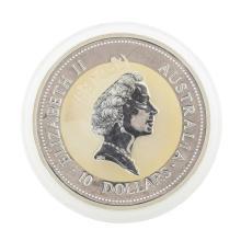 1994 $10 Australian Kookaburra 10 oz. .999 Silver Coin