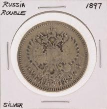 1897 Russian Rouble Silver Coin