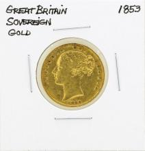 1853 Great Britain Sovereign Gold Coin