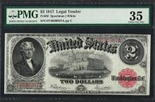 1917 $2 Legal Tender Note Fr.60 PMG Very Fine 35