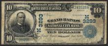 1902 $10 Grand Rapids, MI National Currency Note CH# 3293