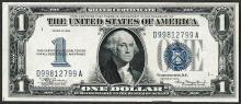 1934 $1 Funnyback Silver Certificate Note