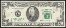 1981 $20 Federal Reserve Note ERROR Gutter Fold