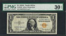 1935A $1 North Africa Silver Certificate WWII Emergency Note PMG Very Fine 30EPQ