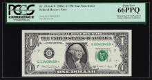 1988A $1 Federal Reserve STAR Note Mismatched Serial Number ERROR PCGS Gem New 6