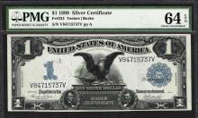 1899 $1 Black Eagle Silver Certificate Note Fr.233 PMG Choice Uncirculated 64EPQ