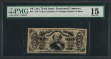 March 3, 1863 Third Issue 50 Cent Fractional Currency Note PMG Choice Fine 15