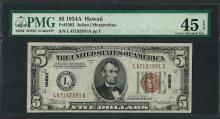 1934A $5 Hawaii Federal Reserve WWII Emergency Note Fr.2302 PMG Extremely Fine 4