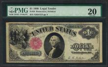 1880 $1 Legal Tender Note Fr.34 PMG Very Fine 20