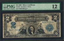 1899 $2 Silver Certificate Note Fr.258 PMG Fine 12
