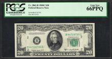 1950C $20 Federal Reserve Note Fr.2062-B PCGS Gem New 66PPQ