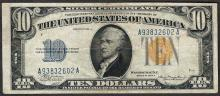 1934A $10 North Africa WWII Emergency Silver Certificate Note