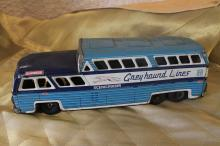 Metal toy Greyhound bus