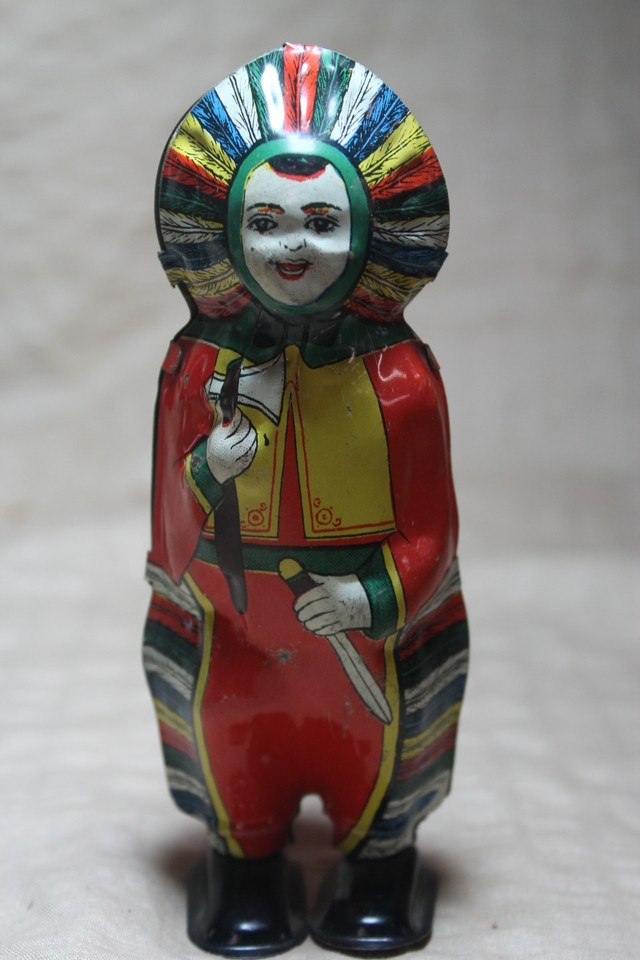 Tin toy Native American