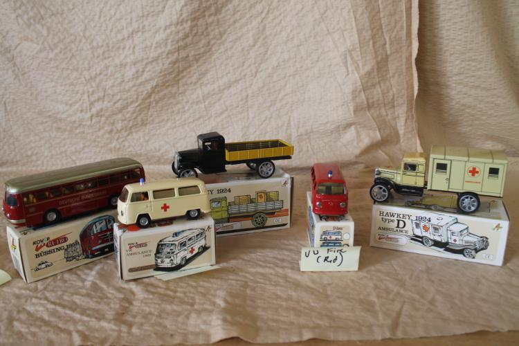 Lot of 5 tin vehicles