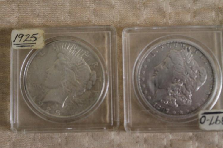 Lot of 2 silver dollars