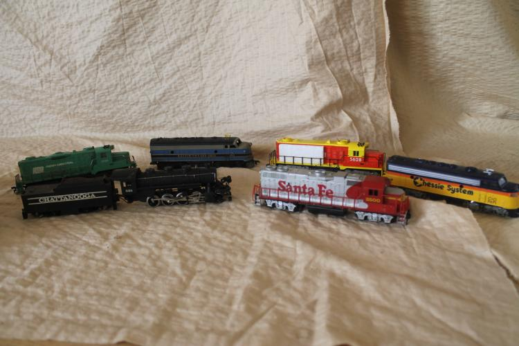 Lot of model trains