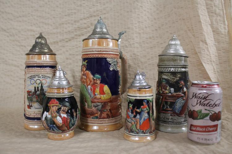 Lot of 5 Gerz steins