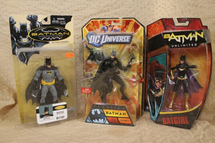 Lot of 3 Batman action figures