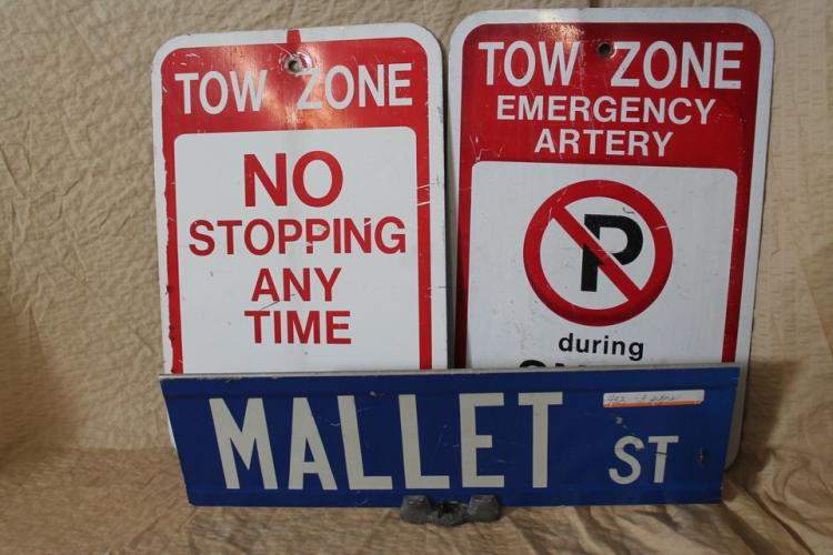 Lot of 3 street signs